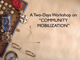 Community Mobilization Workshop