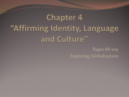 "Chapter 4 – ""Affirming Identity, Language and Culture"""