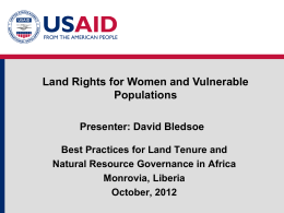 Module 3: Property Rights of Women and Vulnerable Populations