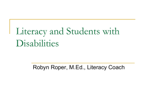 Literacy and Hearing Impaired Students