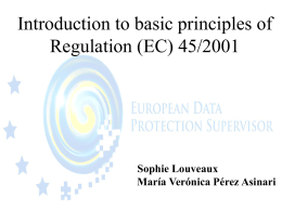 Introduction to data protection