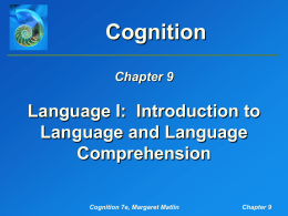 Introduction to Language and Language Comprehension