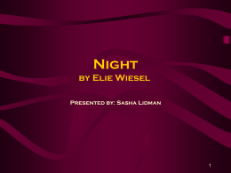 elie wiesels night research Free elie wiesel papers, essays, and research papers.