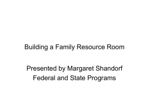 Building a Family Resource Room - the School District of Palm