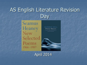 AS Literature Revision Day PowerPoint