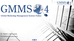 Module 3 - GMMSO 4 Global Marketing Management System Online
