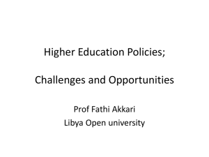Challenges and Opportunities - Libya Higher Education Forum
