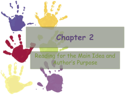 Ch. 2 - Critical and Evaluative Reading Made Easy