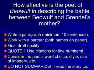 In lines 64-81, how effective is the poet of Beowulf in conveying