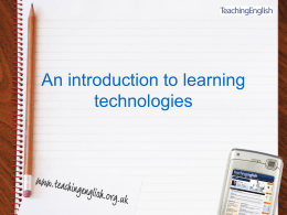 An introduction to learning technologies