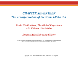 Chapter 17--Transformation of the West