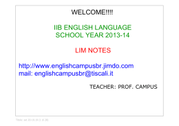IIB - UNIT 7 - PART 2 - About English!!!