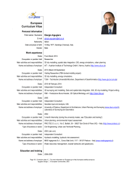 CV as pdf - AIT Austrian Institute of Technology