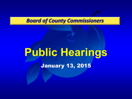 2015-01-13 Public Hearing Avalon Town Center A Portion of Tract 3