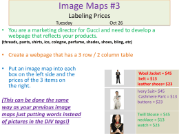 Image Map Assignment #3
