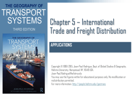 Chapter 5 * International Trade and Freight