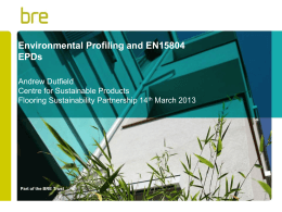 Environmental Profiles EPDs Presentation 140313