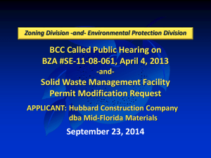 2014-09-23 Public Hearing Solid Waste Permit Mid Florida Materials