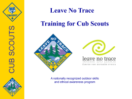 Leave No Trace Training for Cub Scouts