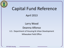 Capital Fund Reference - Wisconsin Association of Housing