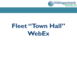 "Fleet ""Town Hall"" - Justice Administrative Commission"
