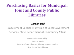 Purchasing Basics for Local Government Units