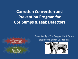 Corrosion Conversion and Prevention Program for