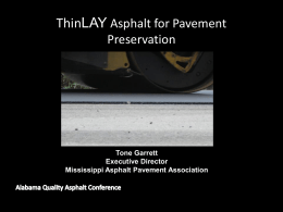 Mississippi Thin Lift Presentation