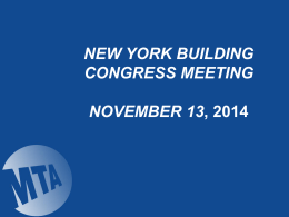 MTA Capital Construction - The New York Building Congress