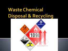 Waste Chemical Disposal and Recycling Guidelines