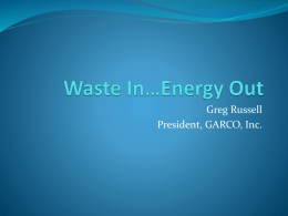 Waste-to-Energy - Wilson Community College