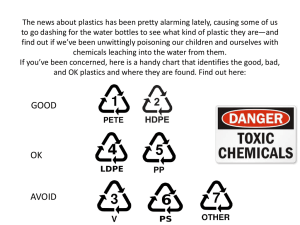 Avoid These Plastics