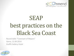 SEAP best practices - INTERREG project recommend