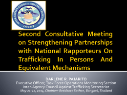Creation of Inter-Agency Council Against Trafficking (IACAT)