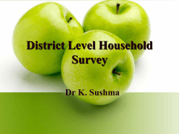 District Level Household Survey