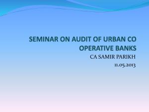 seminar on audit of urban co operative banks