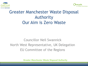 Neil Swannick, CoR Member, Manchester Chair of Greater