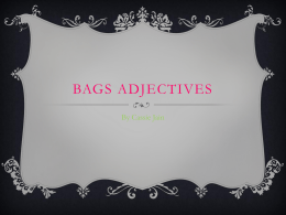 BAGS Adjectives - OhaMadameSimon