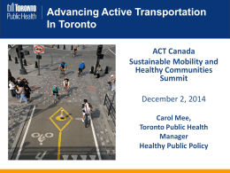 6B Carol Mee - Advancing AT in Toronto