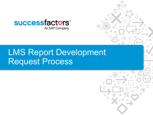 LMS Report Development Request Process