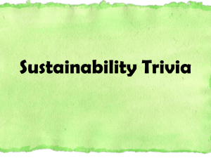 Sustainability Trivia Game - Fayette County Public Schools