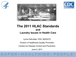 Standards - Healthcare Laundry Accreditation Council