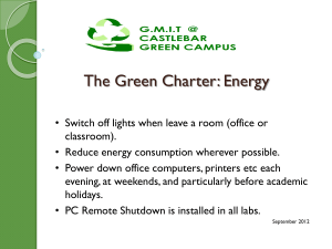 GMIT Mayo Green Campus Charter