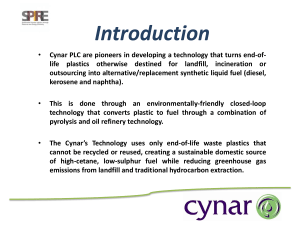 CYNAR PLC - Biomass and residues to create future fuels