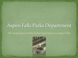 Aspen Falls Parks Department