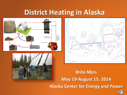 Brita Mjos 2014 Vodcast - Alaska Center for Energy and Power