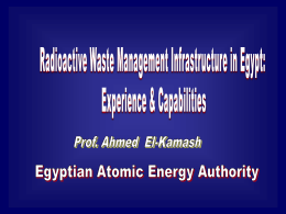 Radioactive waste ma.. - The Center of Nuclear Studies and