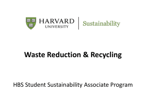 Presentation - Sustainability at Harvard