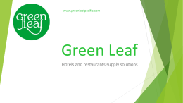 about us - Green Leaf