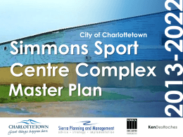 Simmons Sport Centre Complex Master Plan